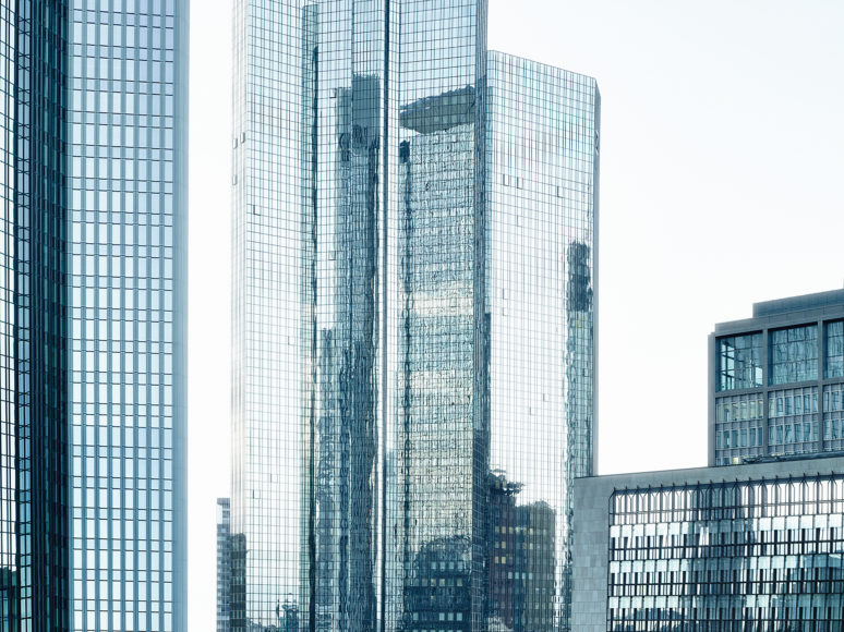 buildings reflected